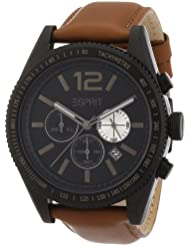 Esprit Herren-Armbanduhr Chronograph Quarz Leder ES104111003