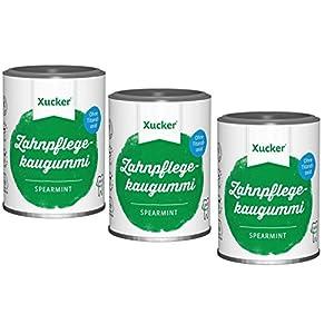 Xummi Spearmint (3 x 100 g zuckerfreie Kaugummis)
