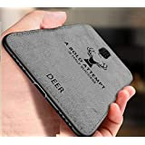 MobiTussion® Dual Layer Fabric Back Cover for Oneplus 7 Pro (Grey)