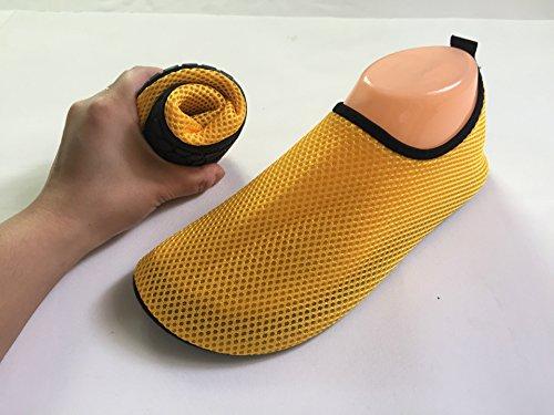 Neeiors Maille respirante Chaussures de l'eau légère de natation Chaussures Aqua Chaussures Pieds nus Chaussures jaune