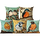AEROHAVEN™ Set of 5 Decorative Hand Made Velvet Throw/Pillow Cushion Covers - CC-38 (Multicolor, 16 inch x 16 inch)
