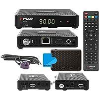 Octagon SX88HD HDTV–Receptor satélite digital (HDTV, DVB-S2, HDMI, 2x USB 2.0, Full HD 1080p, YouTube) [Inevitable para Astra HOTBIRD] Incluye cable HDMI M @ tec Digital–Negro
