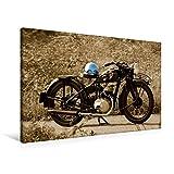 Premium Textil-Leinwand 90 x 60 cm Quer-Format Zündapp DB 200 | Wandbild, HD-Bild auf Keilrahmen, Fertigbild auf hochwertigem Vlies, Leinwanddruck von Ingo Laue (CALVENDO Mobilitaet)