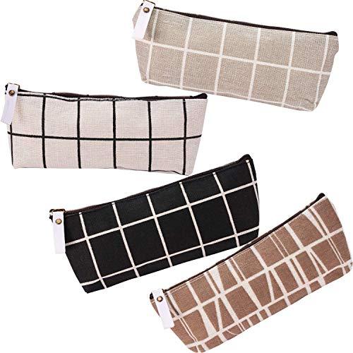 MSPTER 4 Stück, Schulmäppchen Briefpapier Pouch Mäppchen Stifte Etui Multifunktions mit reißverschluss für Mädchen und Jungen,