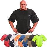 C.P.Sports Profi-Gym-Shirt S8-1 - Erhältlich in den Farben: Navy, Neonorange, Oliv, blau, schwarz, grau Bodybuilding Shirt, Fitness T-Shirt - Ideal f. Workout im Fitness-Studio (Neongelb, S)