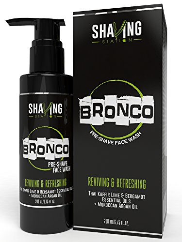 Shaving Station - Pre Shave Face Wash Gel - Paraben & Sulphate Free - 200ml - Thai Kafir Lime & Bergamot