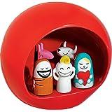 Alessi AMGI10 R Figurines de Noel Presepe Grupe en porcelaine décoré à la main