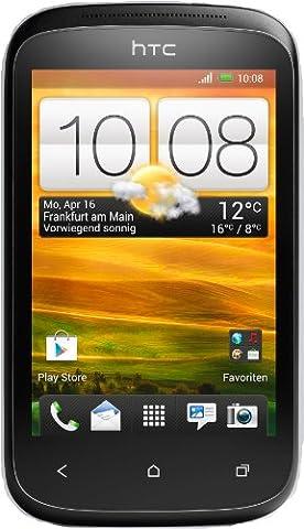 HTC Desire C Smartphone (8,9 cm (3,5 Zoll) HVGA-Touchscreen, 5 Megapixel Kamera, 600MHz, 512MB RAM, 4GB Speicher, Android 4.0 OS) Stealth (Htc Black)