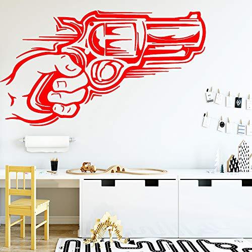 zhuziji Pistola Pegatinas de Pared de Vinilo extraíbles para decoración del hogar Sala de Estar Dormitorio Vinilo 888-3 M 28cm X 49cm