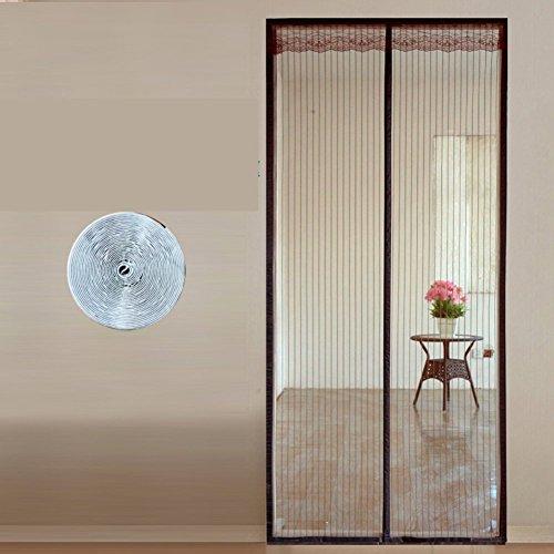 Eqeq full frame zanzara velcro schermo magnetico porta schermata iniziale della porta estiva di maglia per impieghi pesanti mesh scattano automaticamente-un 130x200cm(51x79pollici)
