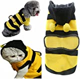 Pet Dog Cat Clothes Coat Puppy Rabbit Polar Fleece Hoodie Outfits Bee Style