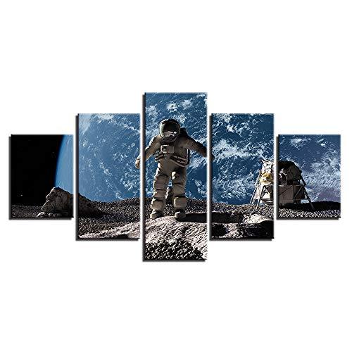 lsweia 5 Stücke HD Print Modularen Bilder Abstrakte Psychedelische Rosen Blumen Schädel Wandkunst Leinwand Malerei für Room Home Decor Poster rahmen-40x60 40x80 40x100 cm