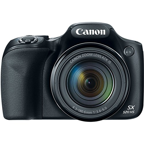 Canon Powershot SX520 HS 16MP Point and Shoot Camera with 42x Optical Zoom, 2200mAh Powerbank, 8GB Card and Camera Case