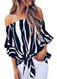 Kinikiss Womens Off Shoulder Tops Ladies Summer Casual T Shirt Blouse