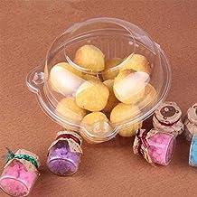 Cupcake Case, 100 × Caja de plástico desechable Individual de Seguridad para Ensalada y pastelería
