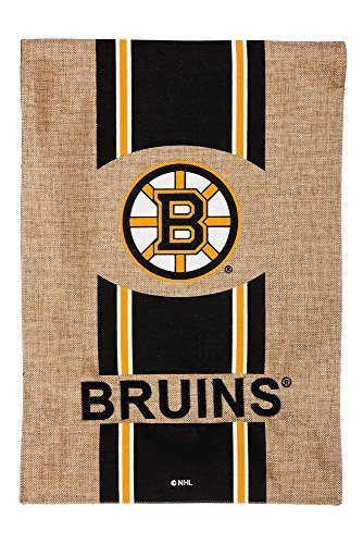 Team Sports America Burlap Boston Bruins Garden Flag, 12,5 x 18 inches by Evergreen Enterprises