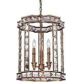 Tres cristal jaula modelo americano Hotel Casa dormitorio living comedor comedor luz de la lámpara de la vela