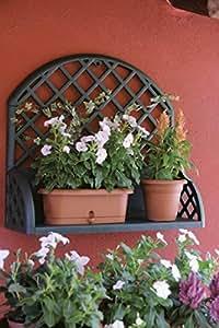 spalier wandregal f r balkon terrasse garten aus robustem kunststoff in gr n ma e bxtxh in. Black Bedroom Furniture Sets. Home Design Ideas