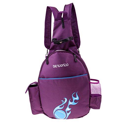 Unbekannt Sharplace Wasserfeste Tasche Schläger Rucksack Schultasche Freizeittasche Tennistasche Schlägertasche für Badminton Squash Tennis - Lila