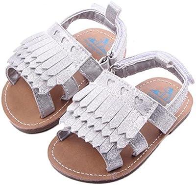 Koly primeros pasos para bebé-niñas, sandalias de bebé, sandalias de borla