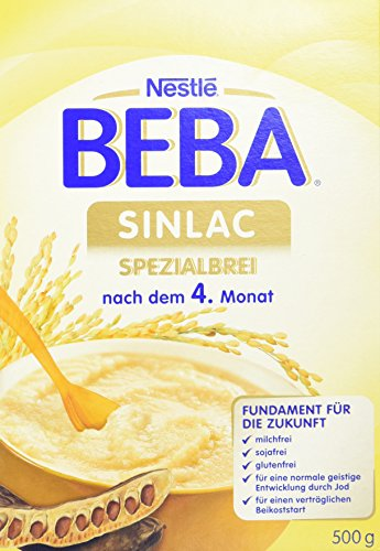 Nestlé BEBA Sinlac Allergenarmer Spezialbrei | Babybrei bei Glutenunverträglichkeit | nach dem 4. Monat | milchfrei, sojafrei, glutenfrei | mit Jod, Vitamin C und Zink | 6er Pack (6 x 500 g) (Vitamin C Babys Für)