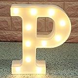 Broadroot 3D Englisch Buchstaben Form LED Nachtlicht Wandbehang Festzelt Zeichen Alphabet Licht Schlafzimmer Hochzeit Party L
