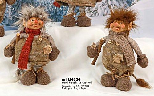 Schneemann Weihnachten Elfe Berg klein 27cm