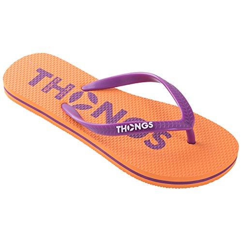 Badeschuhe New Flip Flops, Damen Sandalen Orange Classic