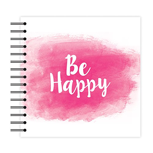n White Scrapbook Album - Be Happy 12