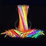 TellementHappy© Bâton Bracelet Fluorescent – Couleur Tendance- Illuminez vos Fêtes Soirées et Mariage avec ces Tubes lumineux Fluo et Tendance Lot de 100 avec Connecteurs