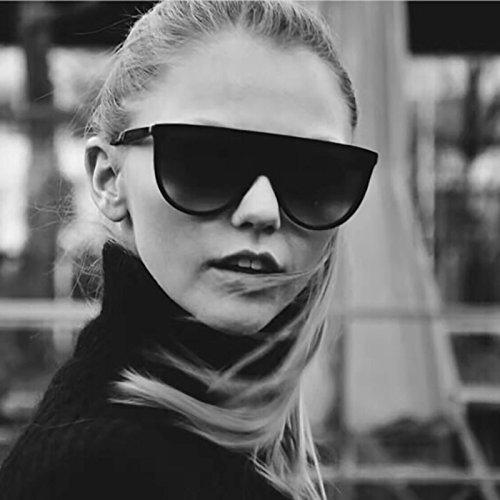 Zokra tm dal design di lusso oversize cat eye sunglasses donne marchio retr¨° vetri di sun signora femminile delle donne di sunglass eyewear oculos de sol [brown trasparente]