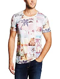 Tom Tailor Denim Summer Panelprint Crewneck, T-Shirt Homme