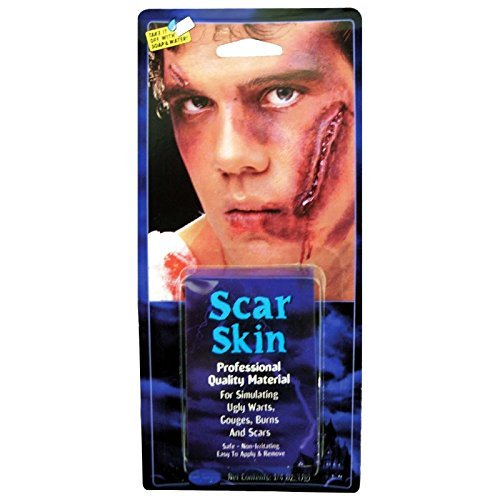 Professional Stick on open Wound Fake Skin Make Up FX Scar Face Halloween Monster Zombie Fancy Dress Facepaint Accessory by Fancy Dress VIP