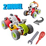 #8: Toys Bhoomi 2 IN 1 Take-Apart 3D Model Racing Car Dune buggy Assembly Construction Building Blocks Puzzles DIY Playset with Screw Nuts & Tools