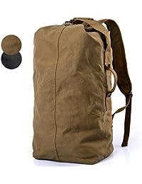 Ocamo Men Outdoor Sports Canvas Bag Multifunctional High-Capacity Simple Mountain Hiking Camping Backpack Handbag