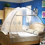 Hasika pop-up Mosquito/pieghevole zanzariera a baldacchino tenda per letti anti zanzara punture design pieghevole con fondo a rete per bebé adulto trip, Brown, 71x79x61 inches