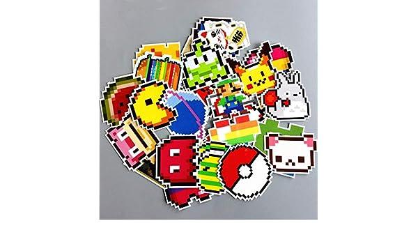 Yunkanda 25 Pcs Lot Dessin Animé Mario Pixel Style