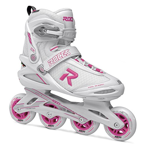 Roces Damen ICON Inline Skates White/Magenta 39