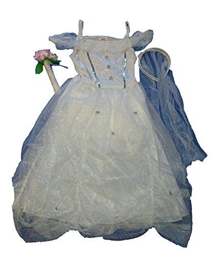 Kinder Kostüm Braut Engel Brautkleid Eisprinzessin Prinzessin Fasching ()