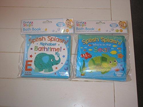 Confezione da 2 libri pedagogici impermeabili per bambini piccoli, ideali da utilizzare per il bagnetto e per apprendere, adatti a bambini dai 6 mesi