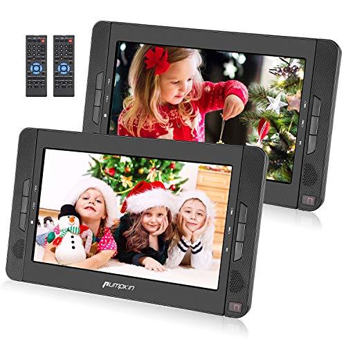 "Pumpkin 2 Reproductores DVD Portátil Coche - 10.1 "" reposacabezas con doble Pantallas soporta USB/ SD/ CD, Región Libre, 5 Horas de Reproducción de la Batería con Mando a Distancia"