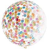 "MMRM 36 ""Confetti Balloons Jumbo Clear Balloon Crepe papel lleno de colores Party Decor"