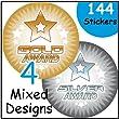 Gold Silver & Bronze Award Stickers