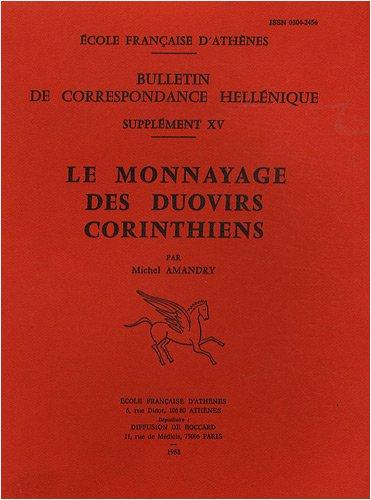 Le monnayage des duovirs corinthiens par Michel Amandry