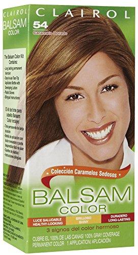 Clairol Coloration capillaire permanente en crème liquide Balsam Color - Couleur 54 - Châtain doré clair