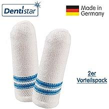 Dentistar® Zahnpflege-Fingerling 2er-Set - Zahnreinigung für Babys 0- 12 Monate – antibakterielles Mundpflegeset - Made in Germany