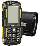 Original MTT Quertasche für / CYRUS CM15 Outdoor / Horizontal Tasche Ledertasche Handytasche Etui mit Clip & Sicherheitsschlaufe*