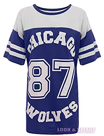 american football damen top trikot chicago 87 wolves. Black Bedroom Furniture Sets. Home Design Ideas