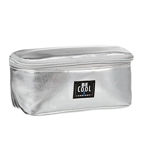 Be Cool kleine Kühltasche Kühlmäppchen für Medizin Diabetiker in silber 20 x 10 x 9,5 cm
