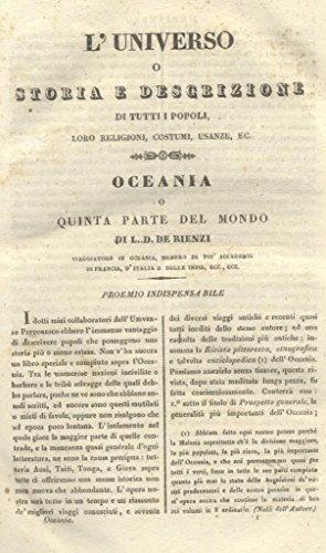 OCEANIA, O QUINTA PARTE DEL MONDO. L'Universo